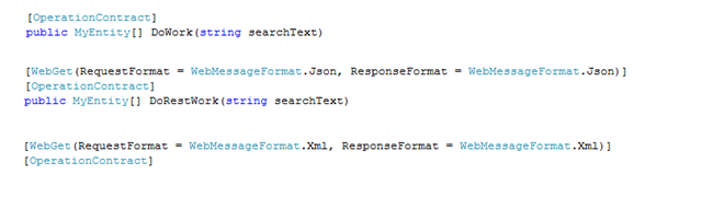WCF REST Messages with JSON and XML serializer - Damir