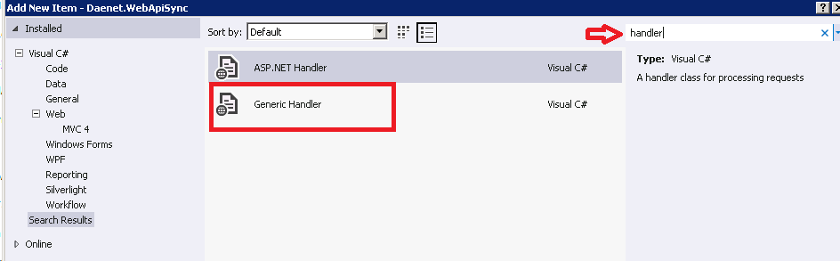 how to create a handler in asp.net