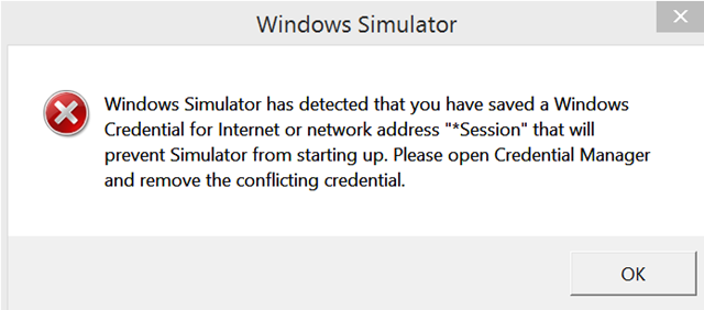 Windows Simulator error when deploying app - Damir Dobric