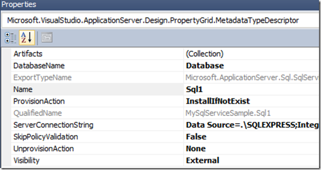 AppFabric Applications: Episode IV - How to add SQL