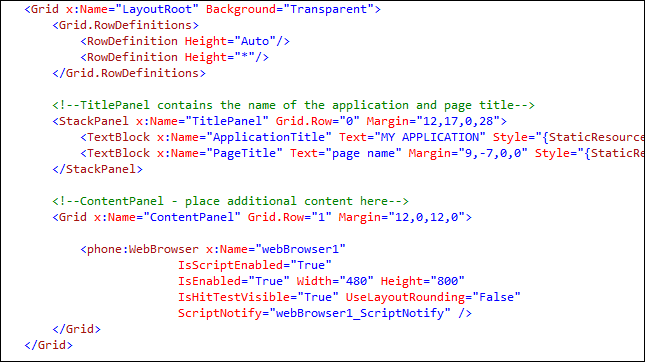 HTML5 for Windows Phone 7 1+ - Episode II : Browsing HTML content