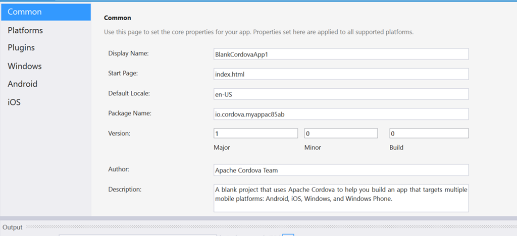 How to add icon to your Cordova App with Visual Studio Tools